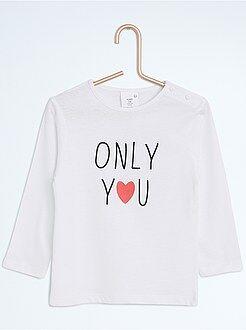 Camisetas - Camiseta estampada de manga larga