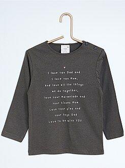 Camiseta estampada de manga larga