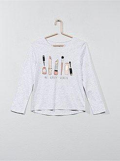 Niña 3-12 años Camiseta estampada de manga larga