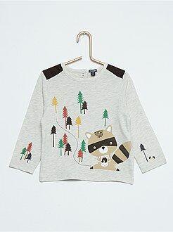 Camiseta estampada de 'mapache'