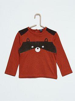 Niño 0-36 meses Camiseta estampada de 'mapache'
