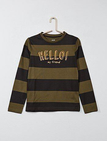 Camiseta estampada de rayas - Kiabi
