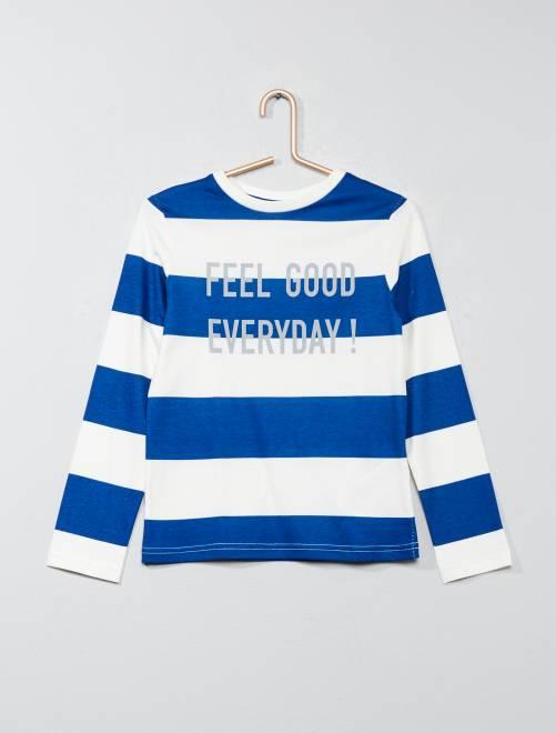 Camiseta estampada de rayas Chico - Kiabi - 4 9e37ca488b6