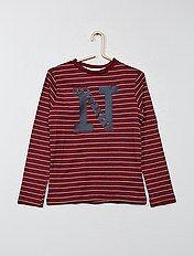 Camiseta estampada de rayas