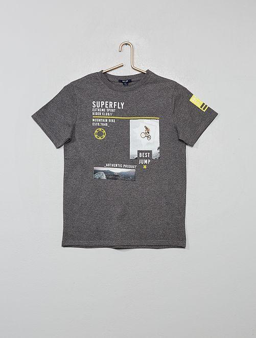 Camiseta estampada 'deporte'                                                                 GRIS