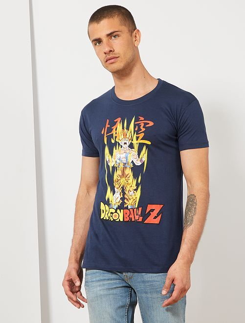 Camiseta estampada 'Dragon Ball Z'                             AZUL