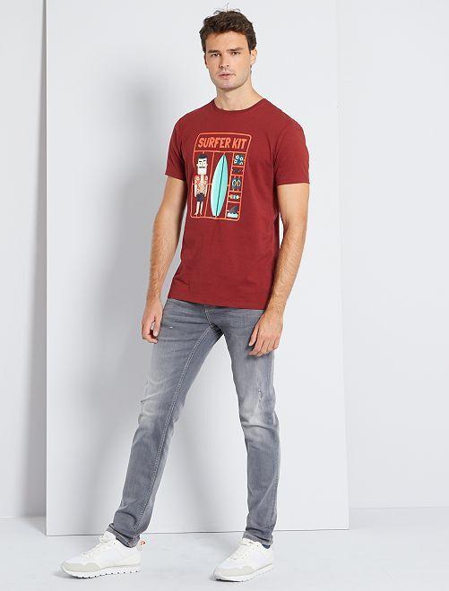 Camiseta estampada eco-concepción +1,90m                                         ROJO