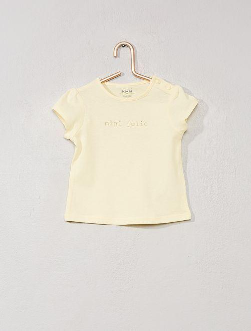 Camiseta estampada 'eco-concepción'                                                     AMARILLO