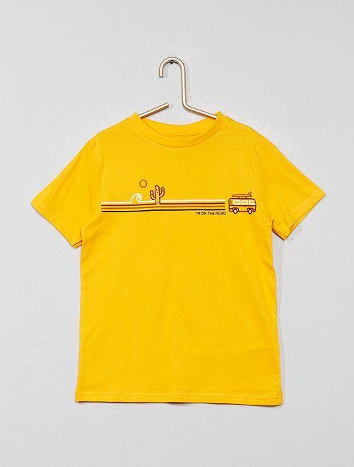 Camiseta estampada 'Eco-concepción'                                                                                                     AMARILLO Chico
