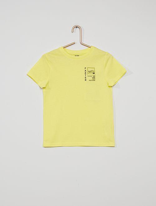 Camiseta estampada 'eco-concepción'                                                                                                                                                                 AMARILLO fast
