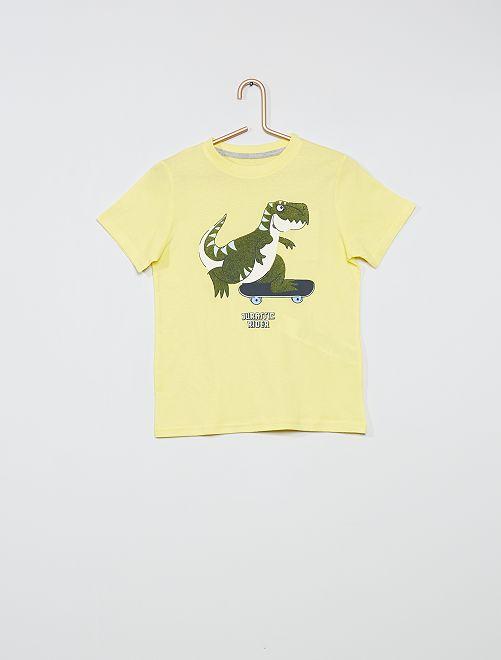 Camiseta estampada eco-concepción                                                                                                                                                                 AMARILLO