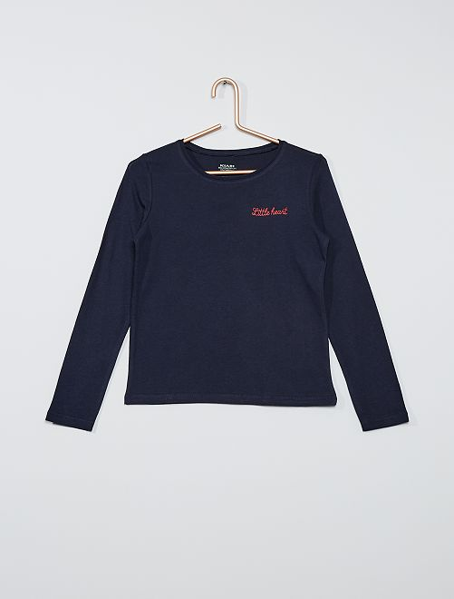 Camiseta estampada eco-concepción                                                                             AZUL
