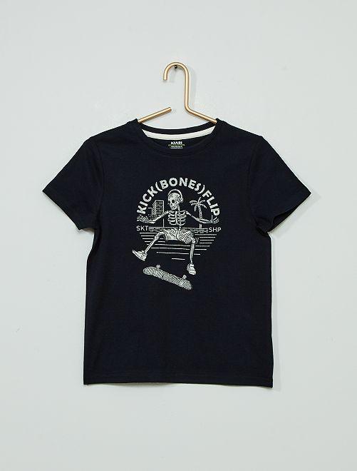 Camiseta estampada 'eco-concepción'                                                                                                                                                                 AZUL