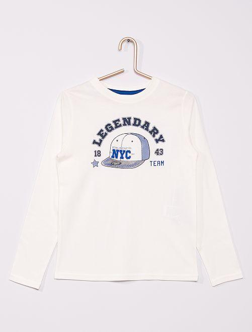 Camiseta estampada eco-concepción                                                                                                                             BEIGE