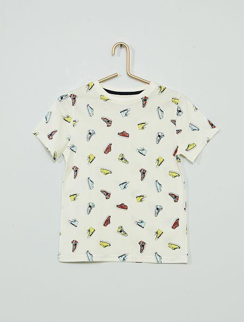 Camiseta estampada 'eco-concepción'                                                                                         BEIGE
