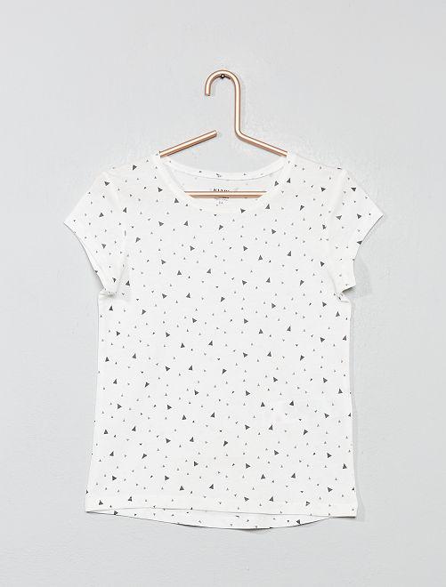 Camiseta estampada 'Eco-concepción'                                                                             BLANCO Chica