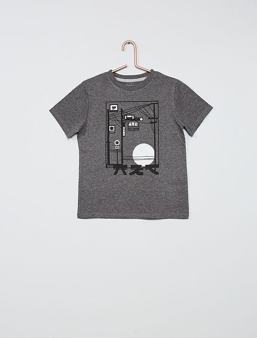Camiseta estampada eco-concepción                                                                                                                                                                 GRIS