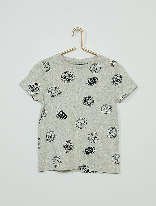 Camiseta estampada 'eco-concepción'                                                                                                     GRIS