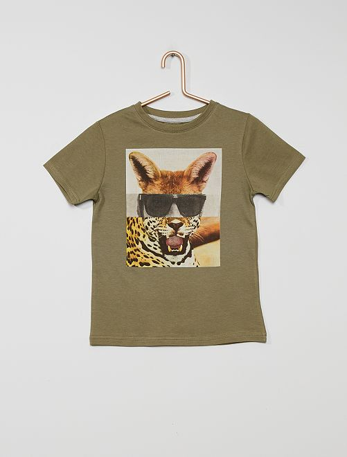 Camiseta estampada eco-concepción                                                                                                     KAKI