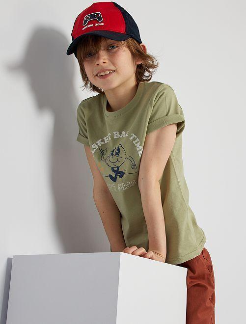 Camiseta estampada 'eco-concepción'                                                                             KAKI