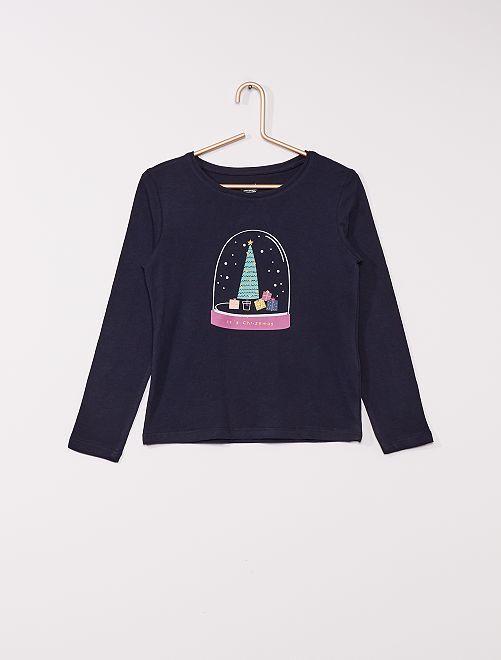 Camiseta estampada 'eco-concepción'                                                                                                                                                                             marino abeto