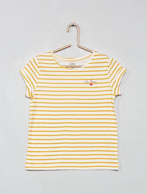 Camiseta estampada 'eco-concepción'                                                                                                                                                                                                                                         NARANJA