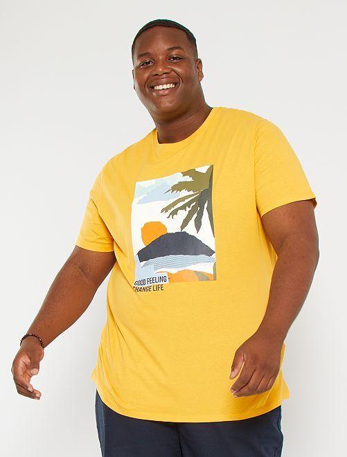 Camiseta estampada eco-concepción                                                     NARANJA