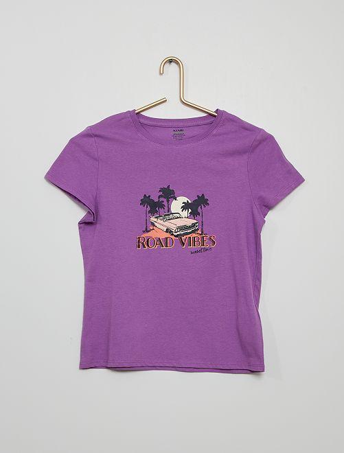 Camiseta estampada eco-concepción                                                                                                                                                                             PURPURA
