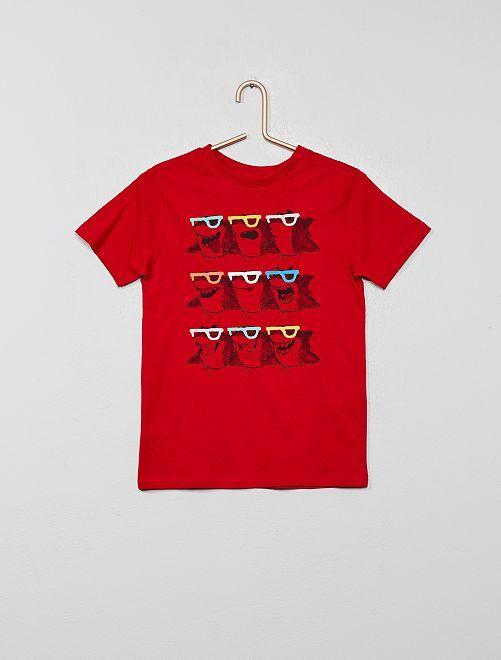 Camiseta estampada 'Eco-concepción'                                                                                                     ROJO Chico