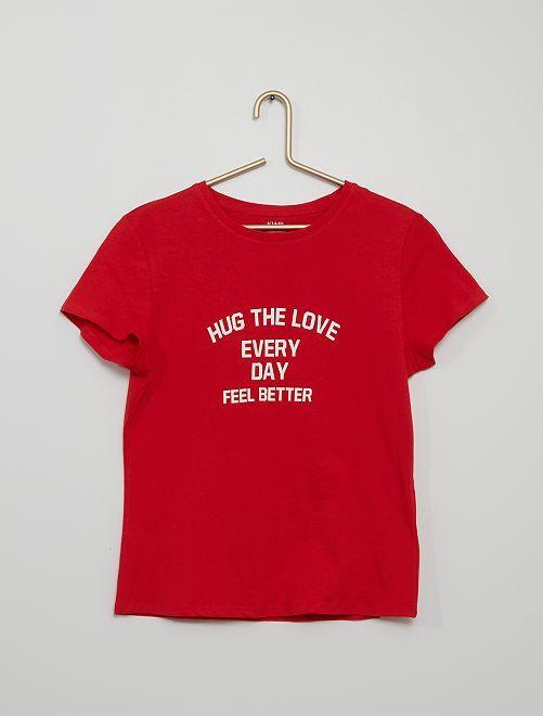 Camiseta estampada eco-concepción                                                                                                                                                                                                     ROJO