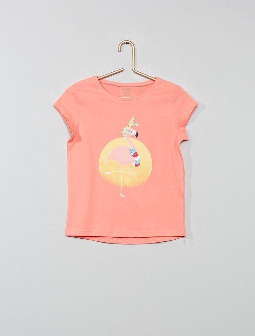 Camiseta estampada 'eco-concepción'                                                                                                                             ROSA Chica