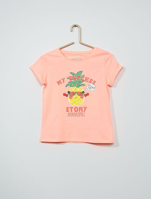 Camiseta estampada 'eco-concepción'                                         ROSA