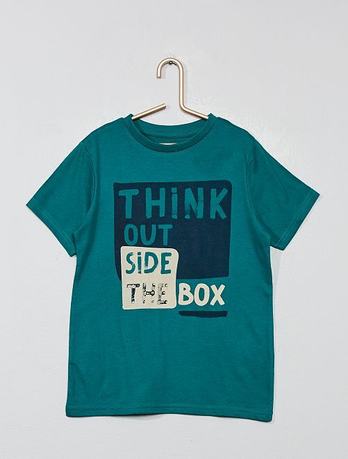 Camiseta estampada 'Eco-concepción'                                                                                                     VERDE Chico