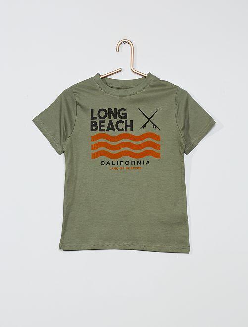 Camiseta estampada 'eco-concepción'                                                                                                                                                                                         VERDE