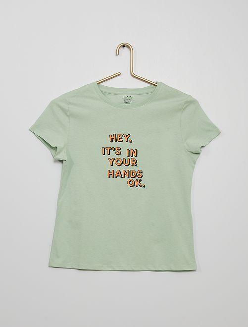 Camiseta estampada eco-concepción                                                                                         VERDE