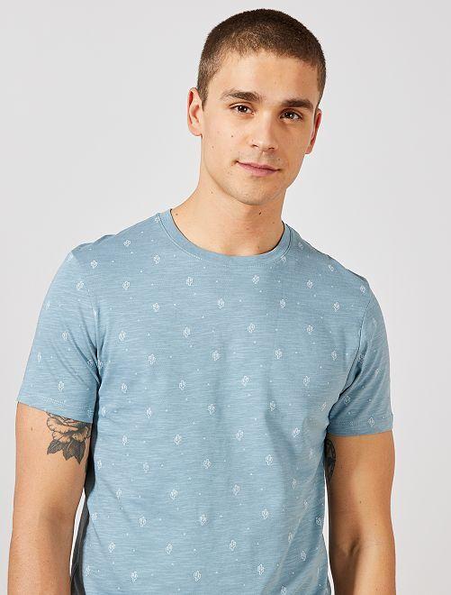 Camiseta estampada Ecodiseño                                                                                                                             AZUL Hombre