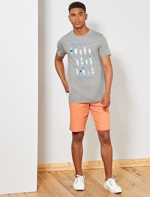 15d6d339d77 Camiseta estampada Ecodiseño Hombre - GRIS - Kiabi - 6