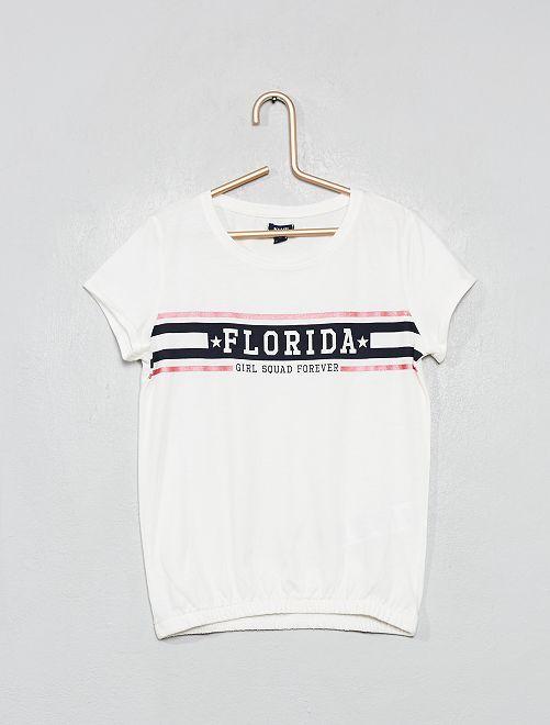Camiseta estampada 'Florida'                                                                 BLANCO