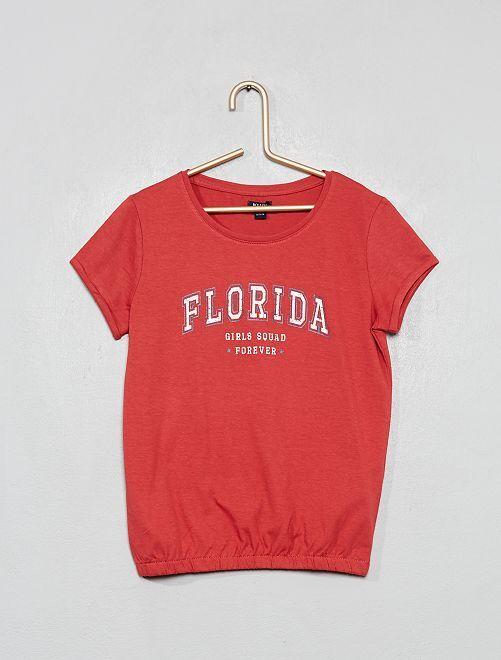 Camiseta estampada 'Florida'                                                                 ROSA