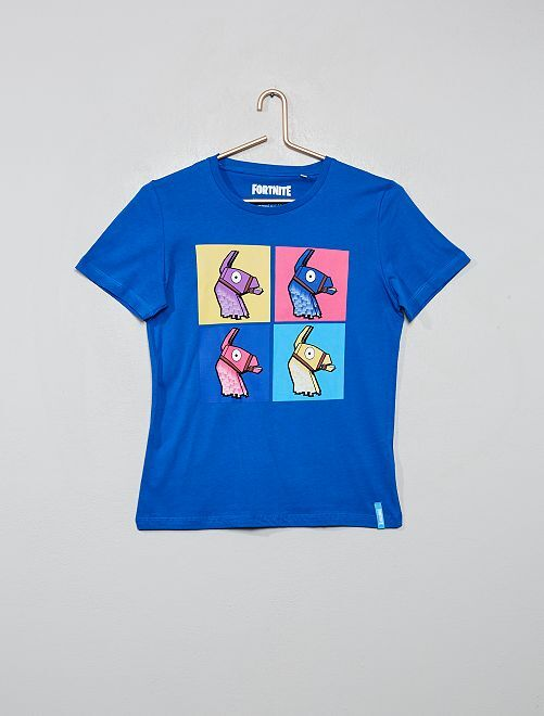 Camiseta estampada 'Fortnite'                             azul