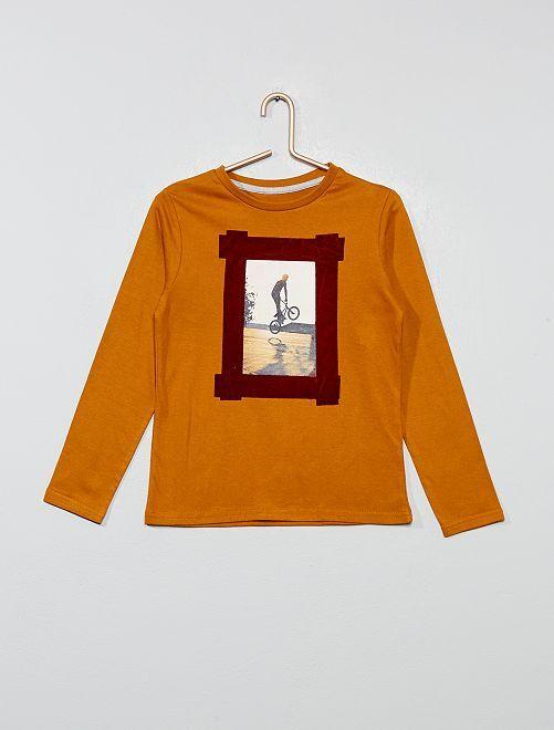 Camiseta estampada 'foto'                                                                                         AMARILLO