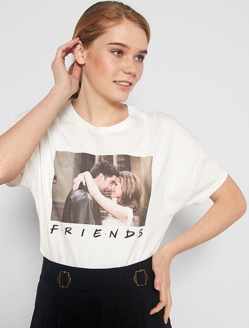 Camiseta estampada 'Friends'                             blanco nieve