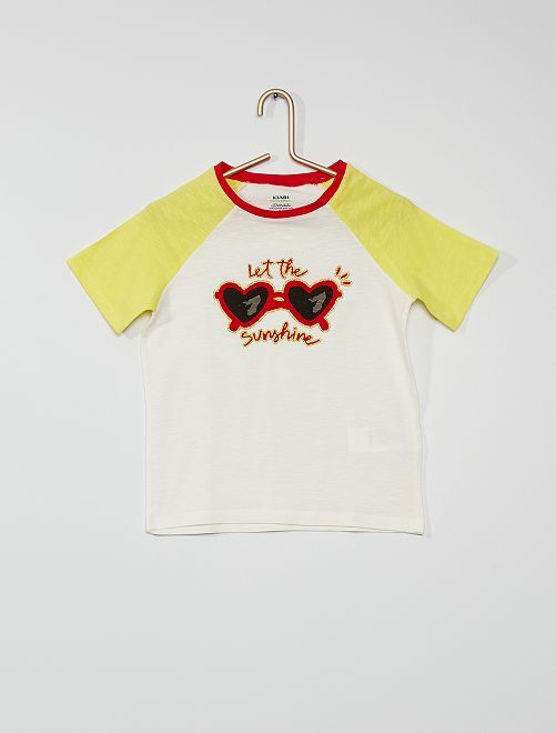 Camiseta estampada 'gafas de sol'                                         ROJO