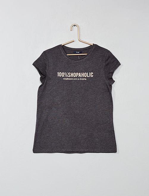 Camiseta estampada                                                                                 GRIS Joven niña