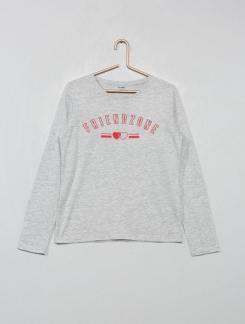 Camiseta estampada                                                                                                                 GRIS