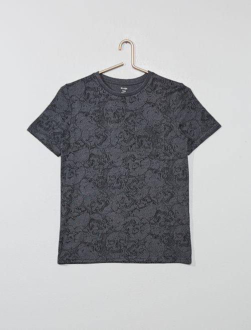 Camiseta estampada                                             GRIS Joven niño