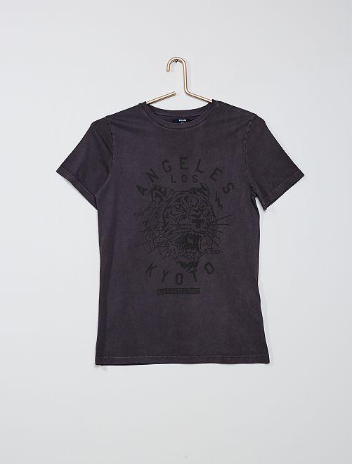 Camiseta estampada                             gris oscuro