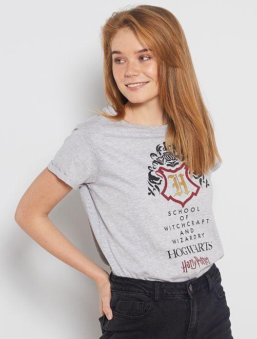Camiseta estampada 'Harry Potter'                             gris chiné