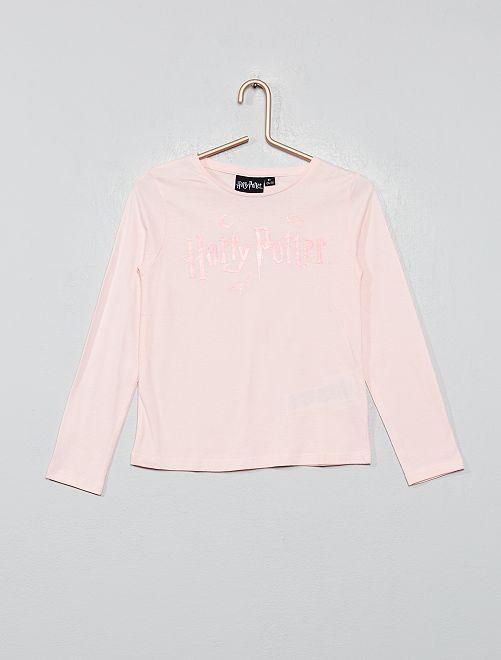 Camiseta estampada 'Harry Potter'                             rosa