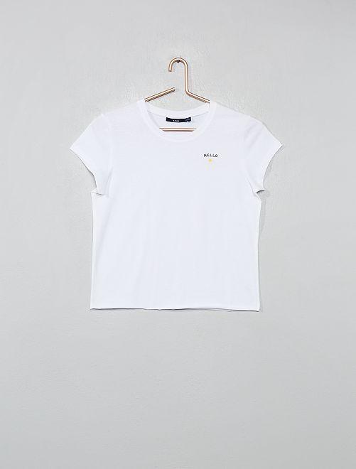 Camiseta estampada 'Hello'                                         blanco Joven niña